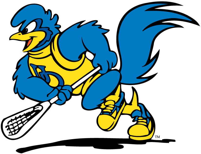 Delaware Blue Hens Logo Mascot Logo (1999-Pres) - YoUDee playing lacrosse SportsLogos.Net