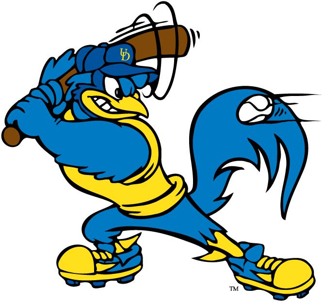 Delaware Blue Hens Logo Mascot Logo (1999-Pres) - YoUDee playing baseball SportsLogos.Net
