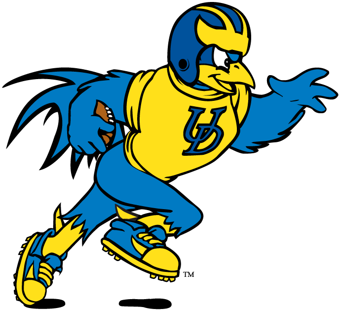 Delaware Blue Hens Logo Mascot Logo (1999-Pres) - YoUDee playing football SportsLogos.Net