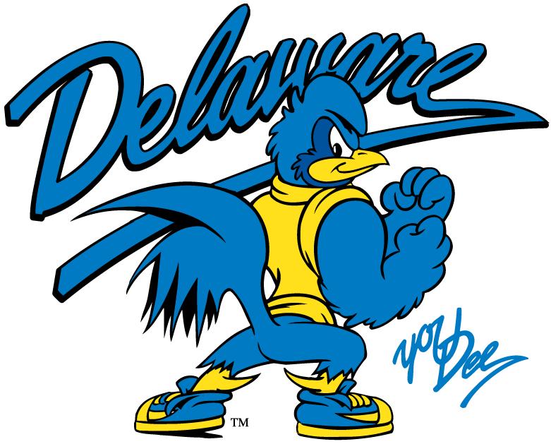 Delaware Blue Hens Logo Mascot Logo (1999-Pres) - YoUDee under script SportsLogos.Net