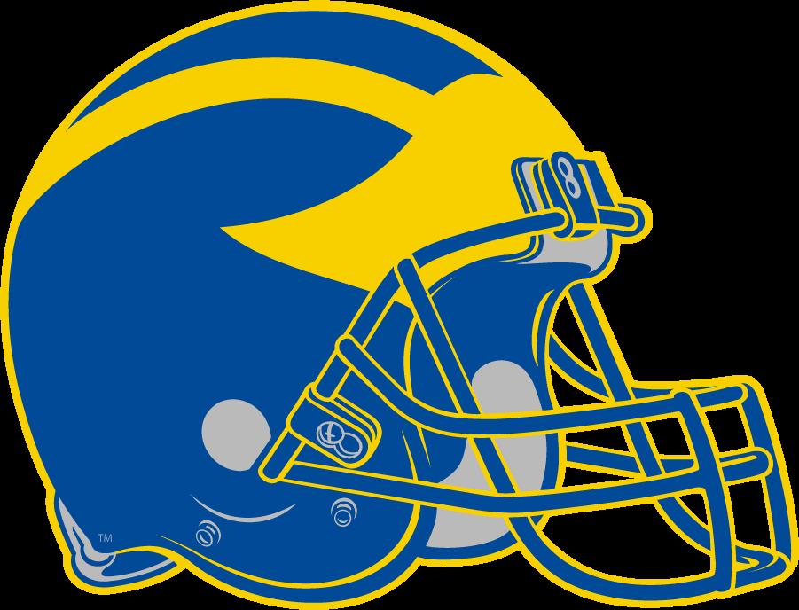 Delaware Blue Hens Helmet Helmet (2009-Pres) - Yellow \