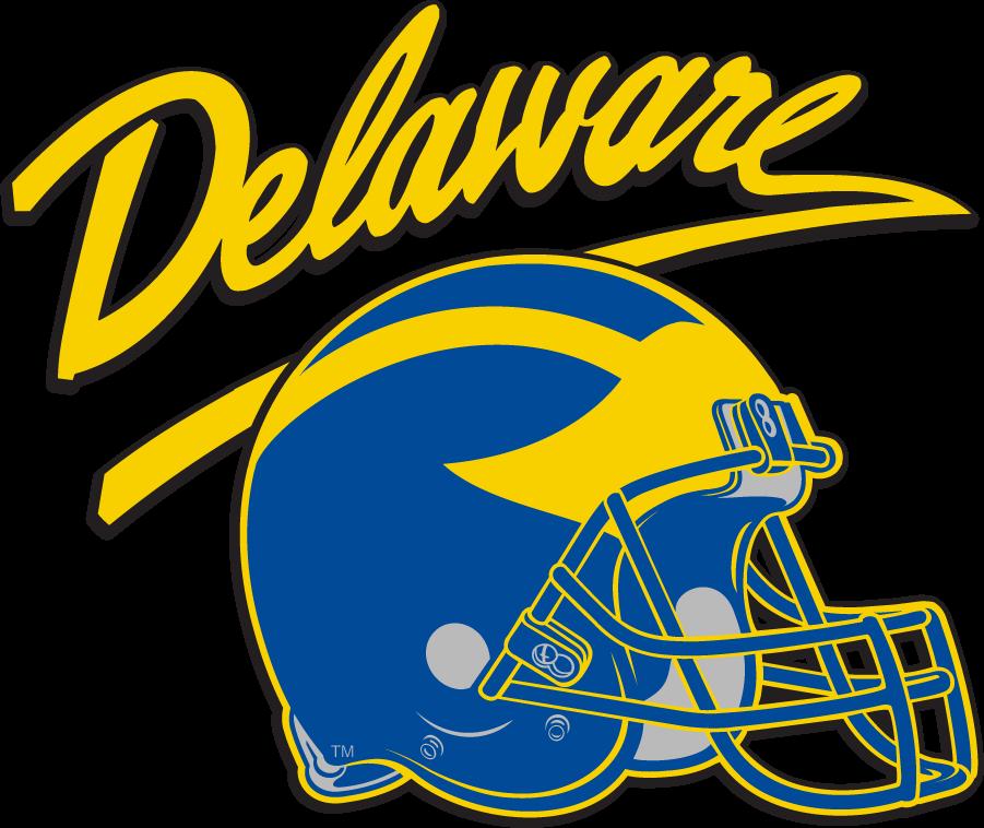 Delaware Blue Hens Helmet Helmet (2009-2018) - Helmet graphic with script Delaware. SportsLogos.Net