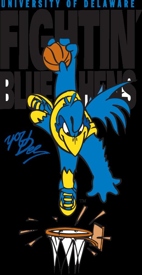 Delaware Blue Hens Logo Mascot Logo (1999-2009) - Slam Dunkin YoUDee SportsLogos.Net