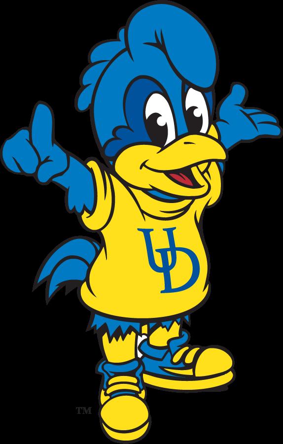 Delaware Blue Hens Logo Mascot Logo (1999-2009) - Baby Blue youth mascot SportsLogos.Net