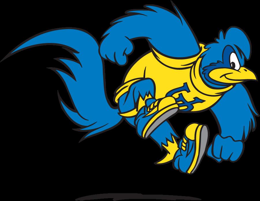 Delaware Blue Hens Logo Mascot Logo (1999-2009) - Jumping YoUDee SportsLogos.Net