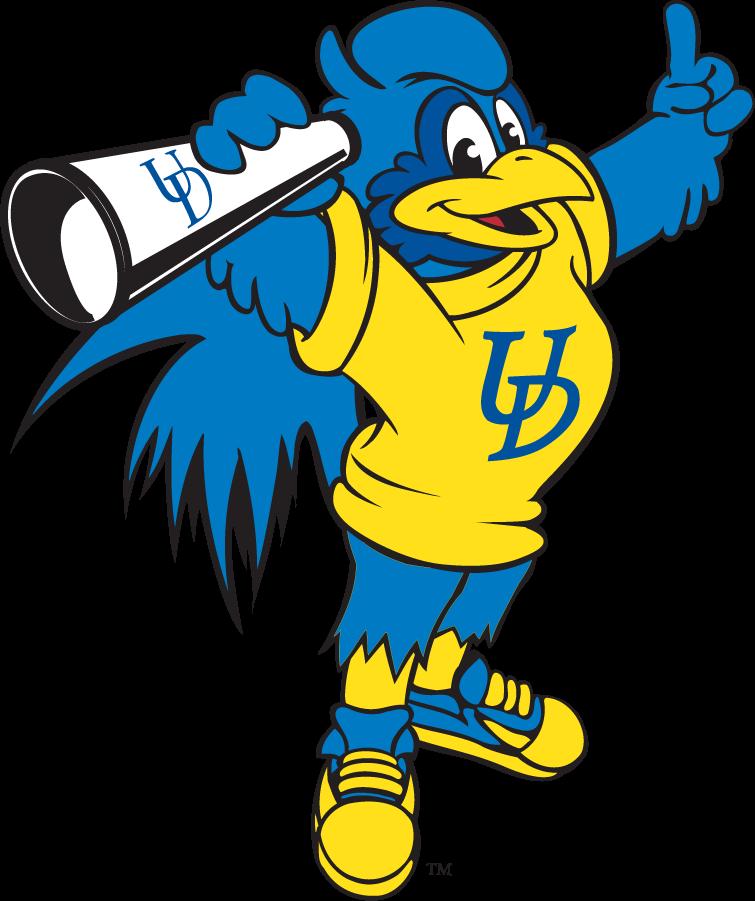 Delaware Blue Hens Logo Mascot Logo (1999-2009) - Megaphone YoUDee SportsLogos.Net