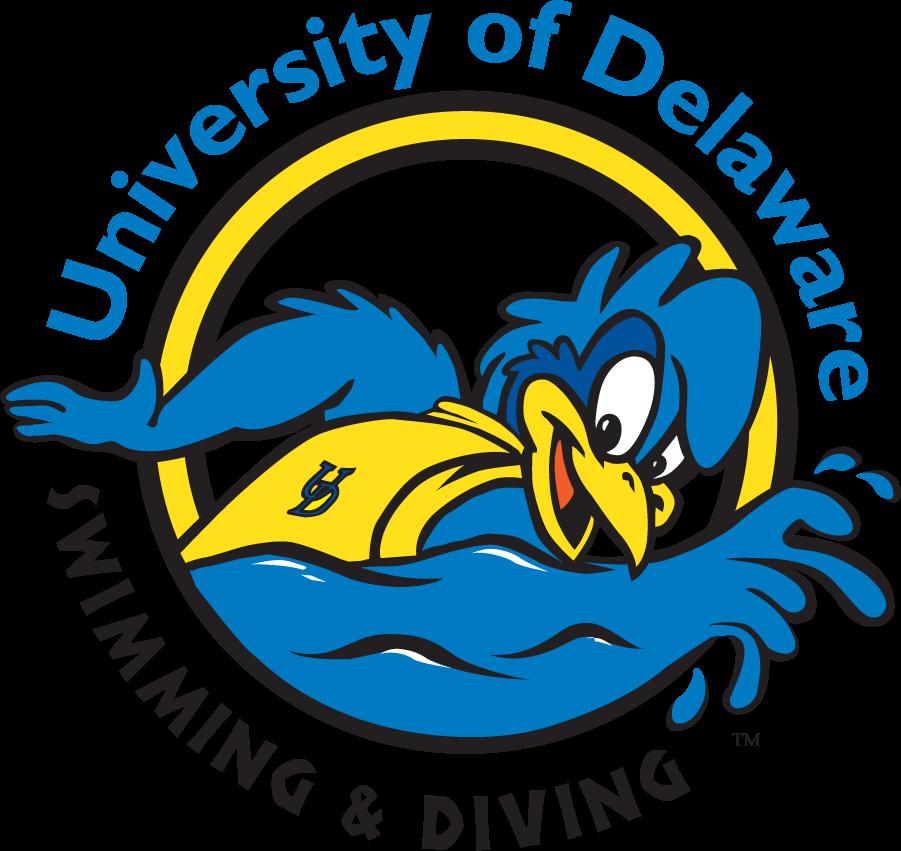 Delaware Blue Hens Logo Mascot Logo (1999-2009) - Swimming YoUDee SportsLogos.Net