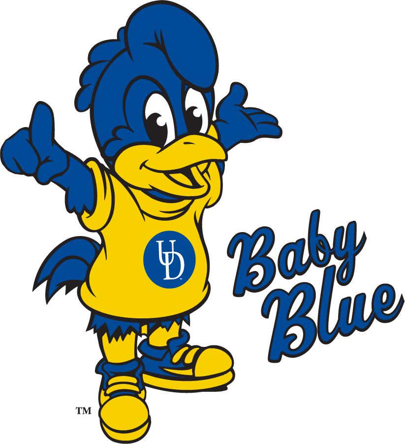 Delaware Blue Hens Logo Mascot Logo (2018-Pres) - Baby Blue SportsLogos.Net