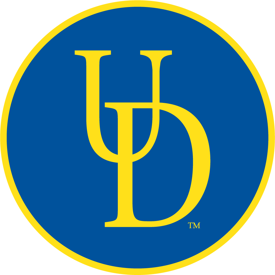 Delaware Blue Hens Logo Secondary Logo (1999-2009) - Interlock UD in circle. SportsLogos.Net