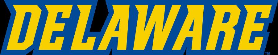 Delaware Blue Hens Logo Wordmark Logo (2016-2018) - Delaware SportsLogos.Net