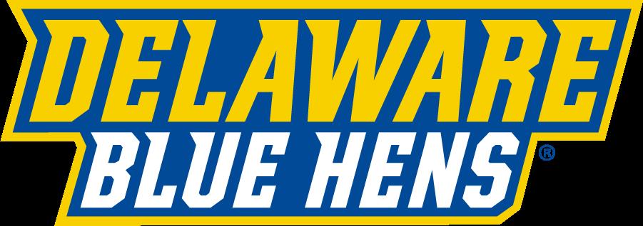 Delaware Blue Hens Logo Wordmark Logo (2018-Pres) - Delaware over Blue Hens SportsLogos.Net
