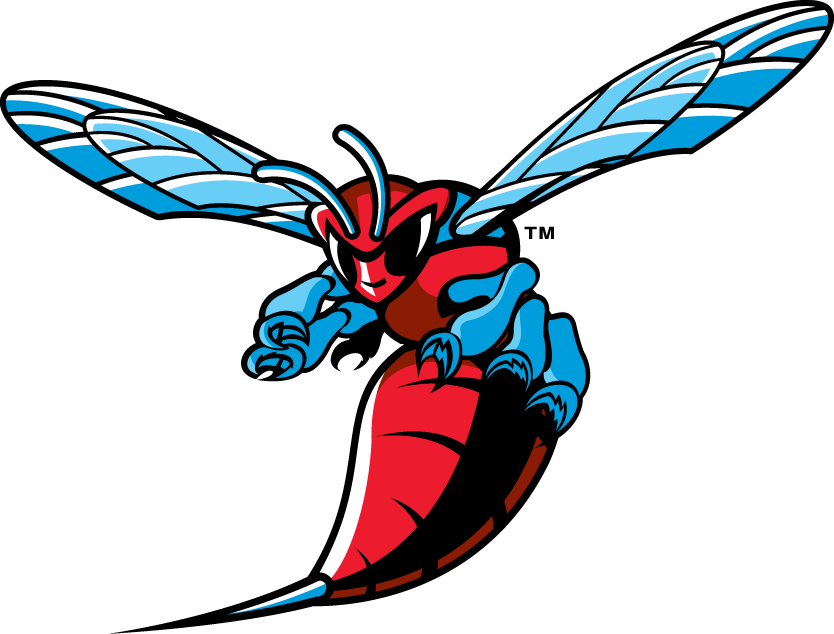 Delaware State Hornets Logo Primary Logo (2004-Pres) - A hornet getting ready for a fight SportsLogos.Net