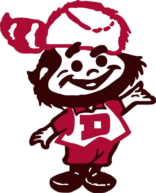 Denver Pioneers Logo Primary Logo (1968-1998) - Classic DU 'Denver Boone' logo SportsLogos.Net