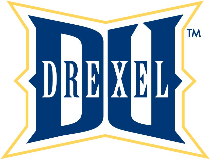 Drexel Dragons Logo Alternate Logo (2002-Pres) - Interlocking DU with Drexel script SportsLogos.Net