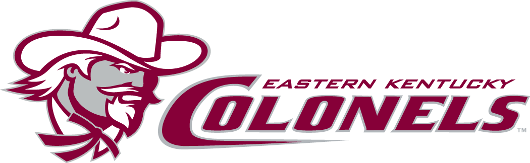 Eastern Kentucky Colonels Logo Primary Logo (2004-Pres) - Colonel head next to script.   SportsLogos.Net