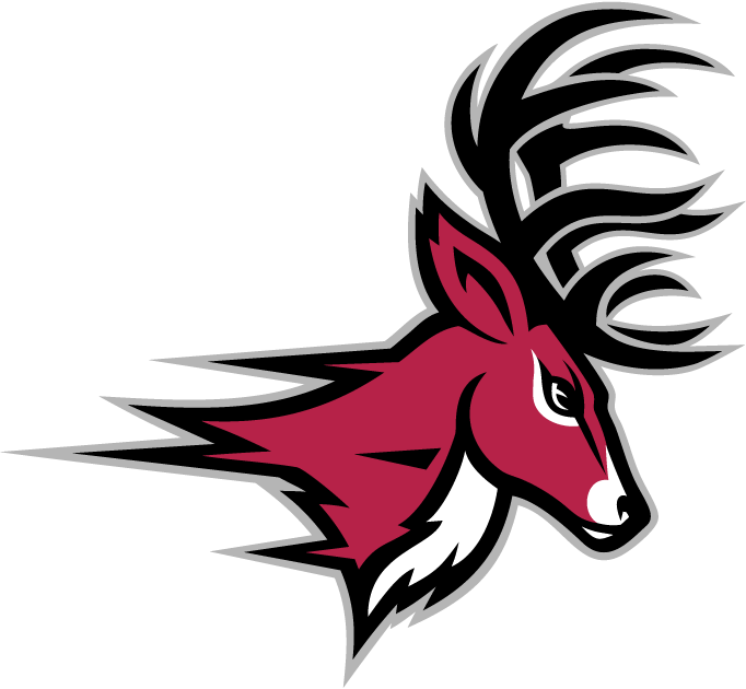 Fairfield Stags Logo Partial Logo (2002-Pres) - A red deer's head SportsLogos.Net