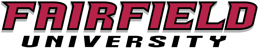 Fairfield Stags Logo Wordmark Logo (2002-Pres) - Univeristy name written in red and black SportsLogos.Net