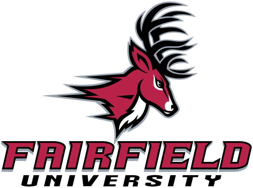 Fairfield Stags Logo Primary Logo (2002-Pres) - A deer's head over college name SportsLogos.Net