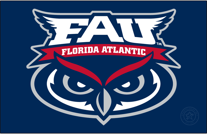 Florida Atlantic Owls Logo Alt on Dark Logo (2005-Pres) -  SportsLogos.Net
