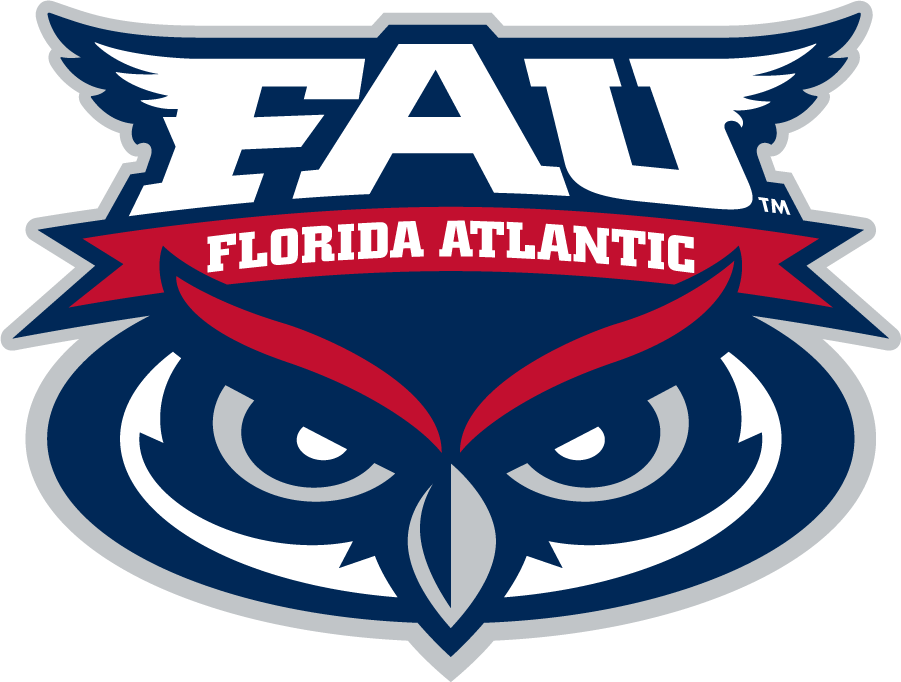 Florida Atlantic Owls Logo Alternate Logo (2005-Pres) - Owl eyes under script in a circle SportsLogos.Net