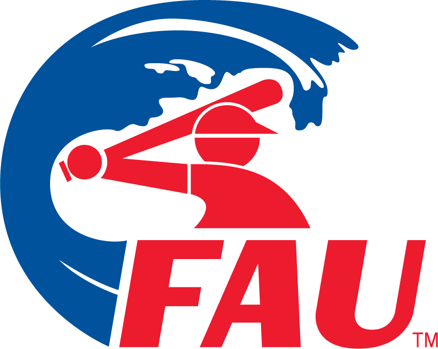 Florida Atlantic Owls Cap Cap (1981-2005) - FAU with wave & swinging baseball player. Baseball began play in 1981. Logo draws from Chicago White Sox\'s 1976-1981 Primary. SportsLogos.Net