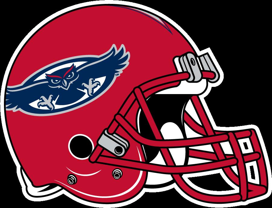 Florida Atlantic Owls Helmet Helmet (2014-2017) - Red shell helmet SportsLogos.Net