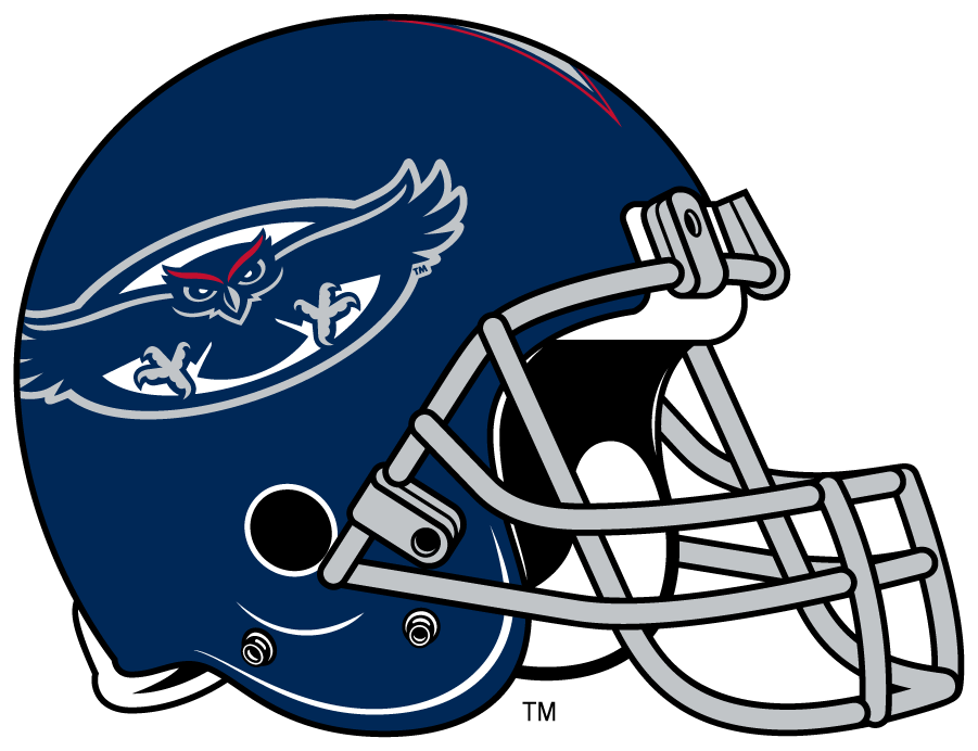 Florida Atlantic Owls Helmet Helmet (2014-2017) - Navy shell helmet SportsLogos.Net