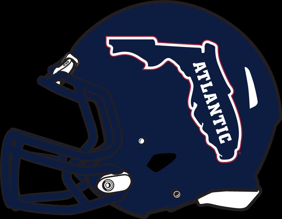 Florida Atlantic Owls Helmet Helmet (2017-Pres) - Navy shell helmet with Florida logo SportsLogos.Net
