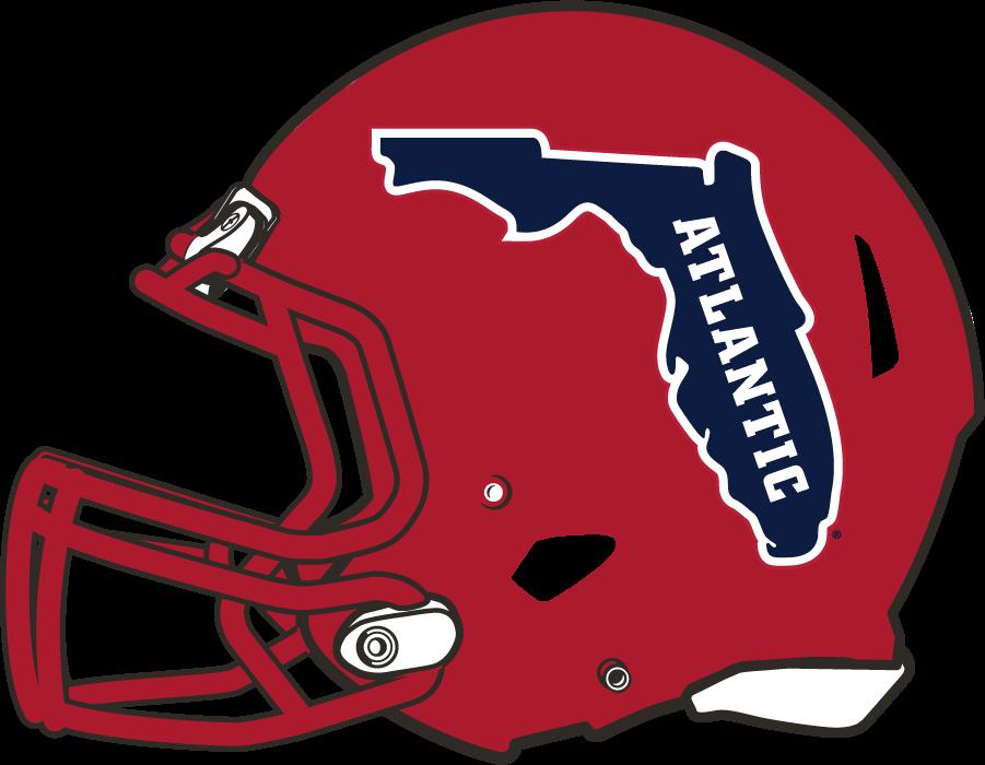 Florida Atlantic Owls Helmet Helmet (2017-Pres) - Red shell helmet with Florida logo SportsLogos.Net
