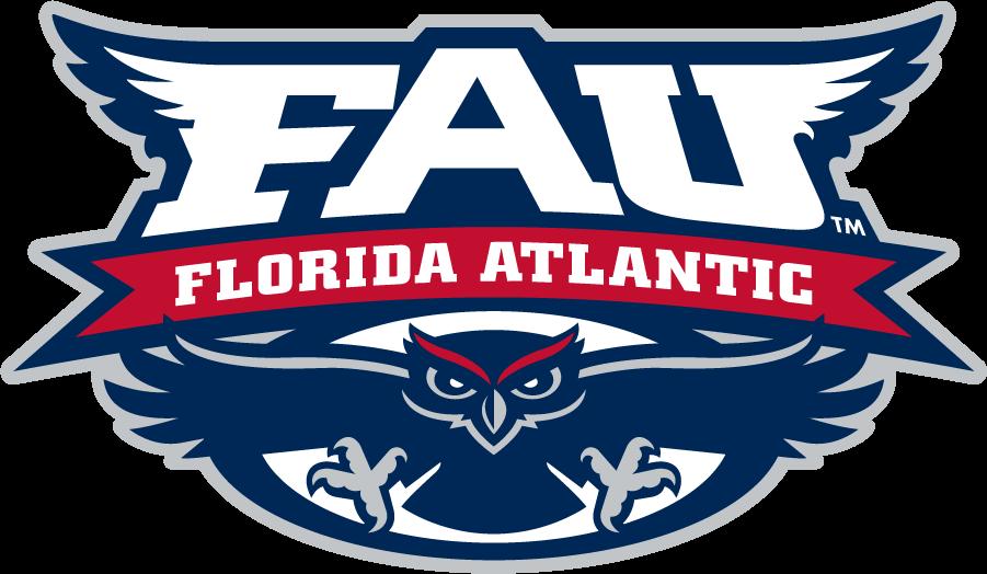 Florida Atlantic Owls Logo Primary Logo (2005-2018) - Flying owl under script in a circle SportsLogos.Net