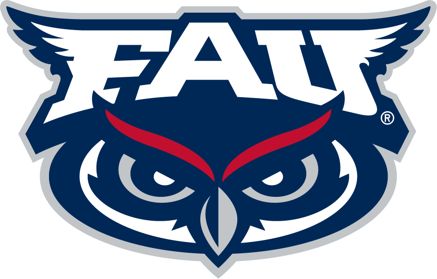Florida Atlantic Owls Logo Primary Logo (2018-Pres) - In 2018, all full-body owl logos were eliminated so the FAU Owl mark became the official Primary then. SportsLogos.Net