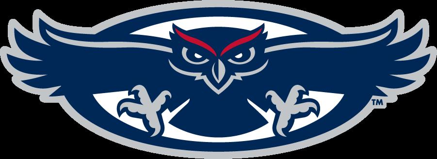 Florida Atlantic Owls Logo Secondary Logo (2005-2018) - Flying Owl in an oval SportsLogos.Net