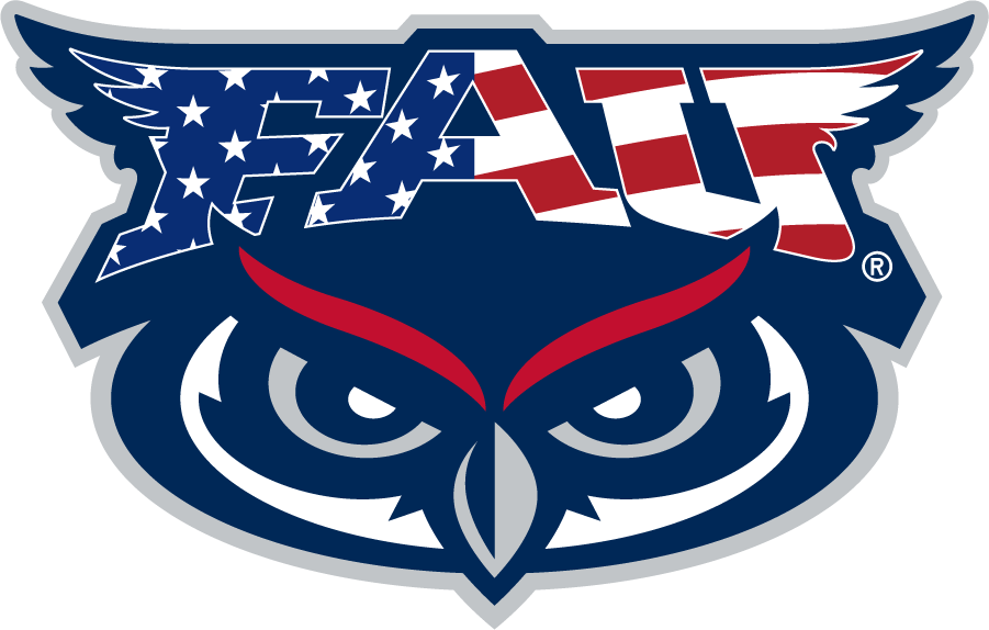 Florida Atlantic Owls Logo Secondary Logo (2019-Pres) - Patriotic FAU Owl mark used for special occasions (Memorial Day, 4th of July, Labor Day, Veterans Day, etc.)  SportsLogos.Net