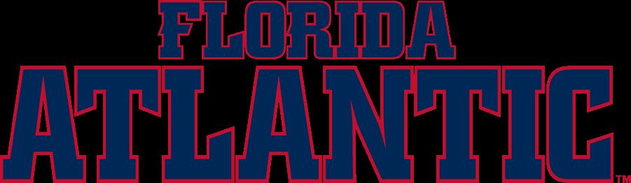 Florida Atlantic Owls Logo Wordmark Logo (2014-Pres) - Florida Atlantic wordmark in red and navy. SportsLogos.Net