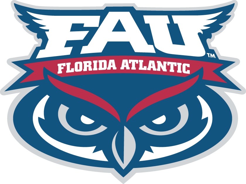 Florida Atlantic Owls Logo Primary Logo (2005-Pres) - Owl eyes under script in a circle SportsLogos.Net