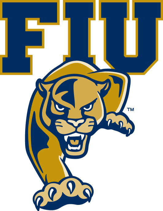 FIU  Panthers Logo Primary Logo (2010-Pres) - They corrected their new logo so that the I in FIU is more distinguishable.  SportsLogos.Net