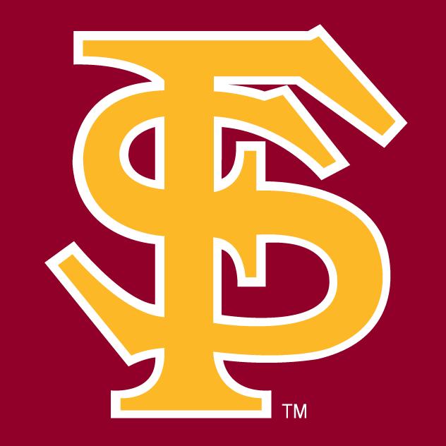 Florida State Seminoles Logo Alternate Logo (1985-2013) - Gold FS on a maroon background SportsLogos.Net