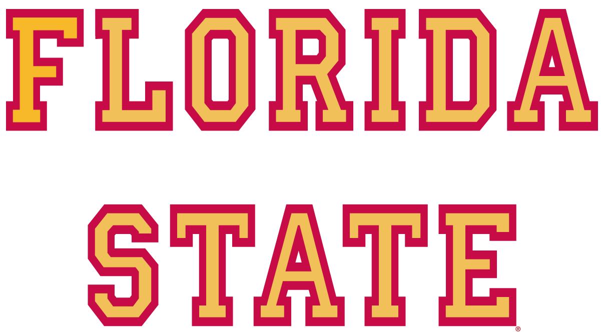 Florida State Seminoles Logo Wordmark Logo (1976-2013) - Florida State in red and gold SportsLogos.Net