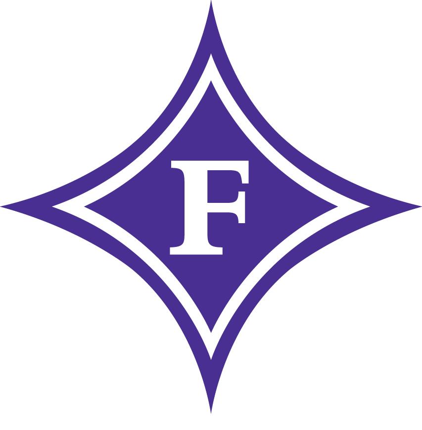 Furman Paladins Logo Primary Logo (1981-2012) - White F on blue diamond SportsLogos.Net