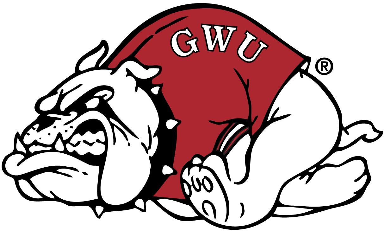 Gardner-Webb Bulldogs Logo Primary Logo (1987-Pres) - Bulldog with red sweatshirt running SportsLogos.Net