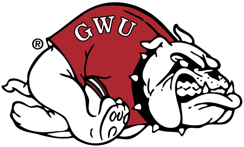Gardner-Webb Bulldogs Logo Secondary Logo (1987-Pres) - Bulldog with red sweatshirt running to the left SportsLogos.Net