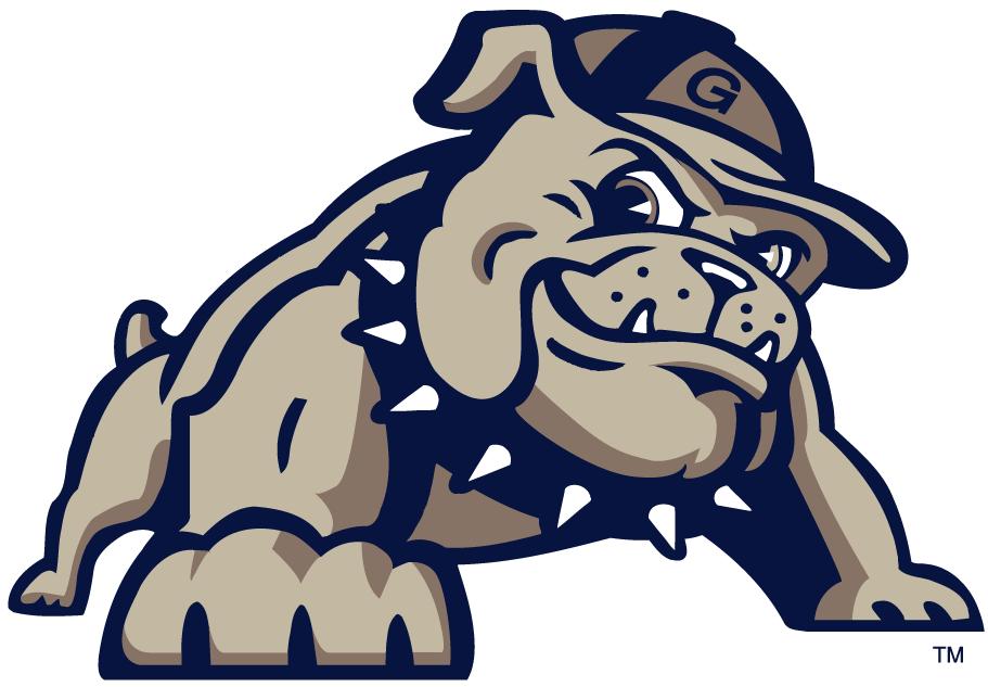 Georgetown Hoyas Logo Alternate Logo (2000-Pres) - Full body bulldog. SportsLogos.Net