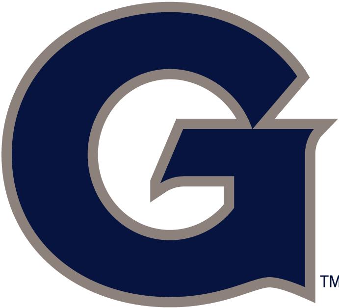 Georgetown Hoyas Logo Primary Logo (1995-Pres) - A navy blue G SportsLogos.Net
