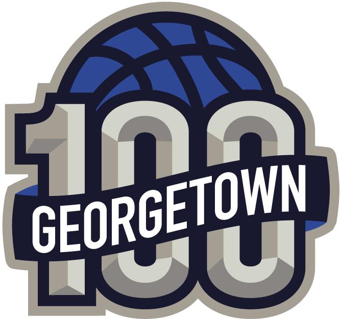Georgetown Hoyas Logo Anniversary Logo (2007) - 100 years of Georgetown Hoyas Basketball logo SportsLogos.Net