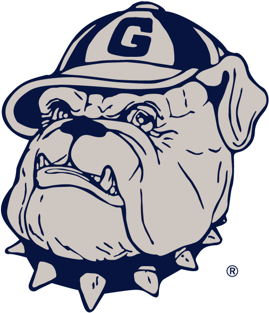 Georgetown Hoyas Logo Secondary Logo (1978-1995) - A ligther coloured grey version of the primary logo SportsLogos.Net