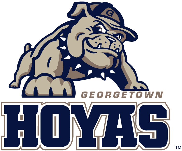 Georgetown Hoyas Logo Alternate Logo (2000-Pres) - Full body bulldog over Georgetown Hoyas text. SportsLogos.Net