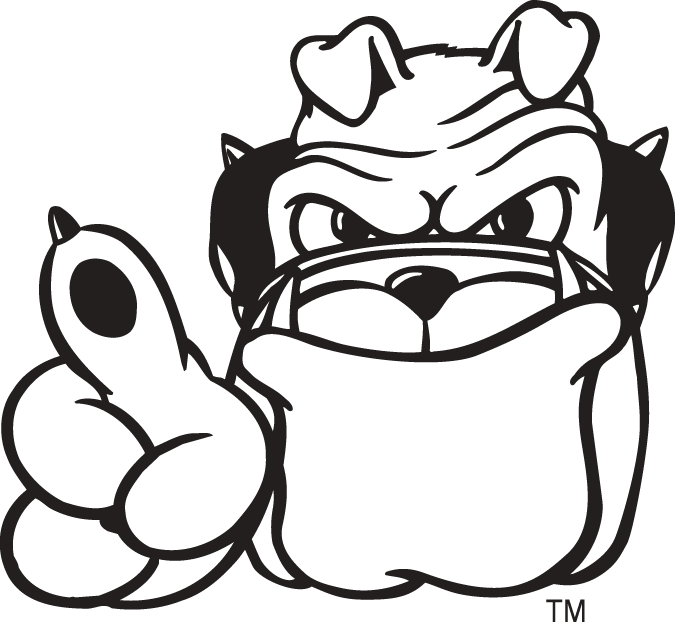 Georgia Bulldogs Logo Mascot Logo (1997-Pres) - Hairy Dawg mascot logo 3 SportsLogos.Net