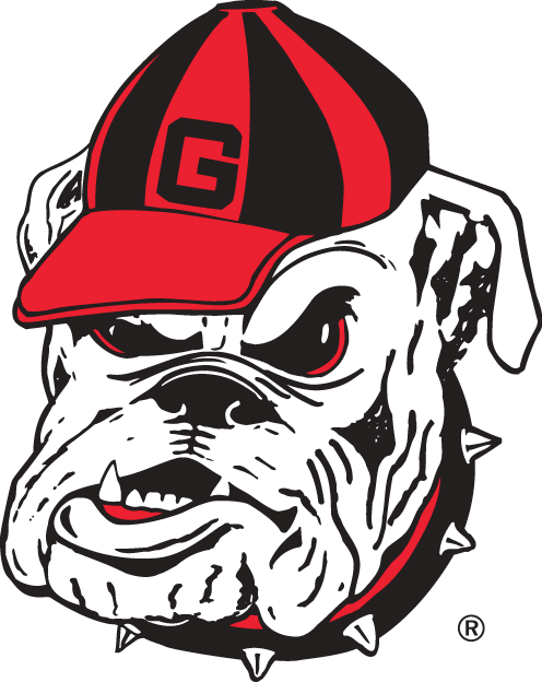 Georgia Bulldogs Logo Secondary Logo (1964-Pres) - Angry bulldog with G-hat.   SportsLogos.Net