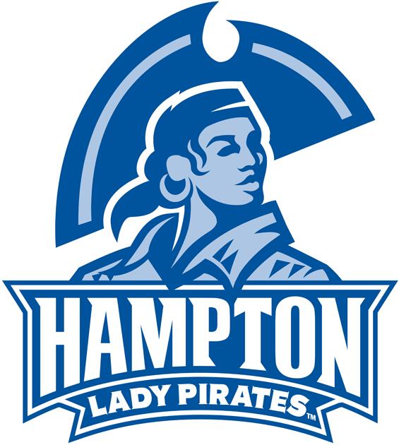 Hampton Pirates Logo Alternate Logo (2007-Pres) - 2 colour version of the Lady Pirates logo SportsLogos.Net