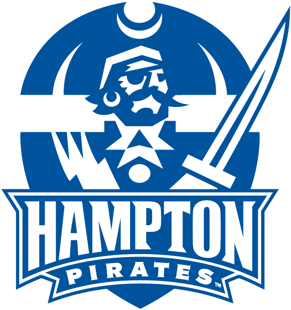Hampton Pirates Logo Primary Logo (2007-Pres) - Pirate head and torso with script and sword SportsLogos.Net